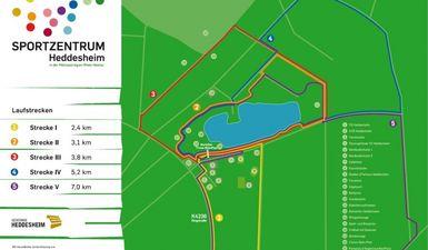 Laufstrecken im Sportpark Heddesheim