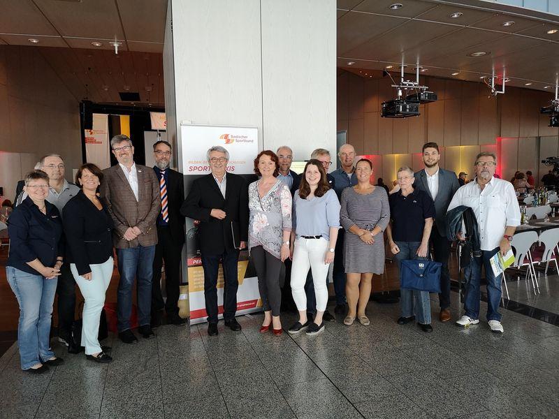Die Delegierten des Sportkreises Mannheim beim Sportbundtag 2019 in Wiesloch